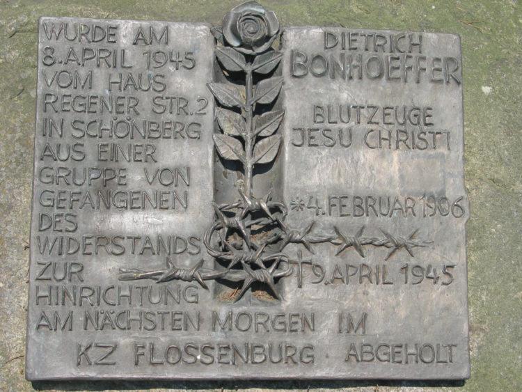Schoenberg bonhoeffer gedenktafel 2